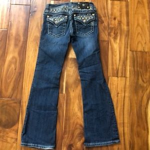 Girls Miss Me Bootcut Jeans